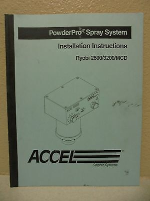 Accel Powder Pro Spray System Install Instructions Ryobi 2800 3200 Mcd