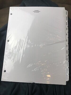 5 Sets Monthly Binder Divider Pages Tabs White New Accusource