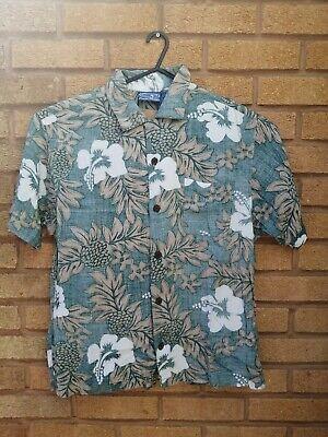 Vintage retro mens Hawaiian festival patterned print shirt | size: XL