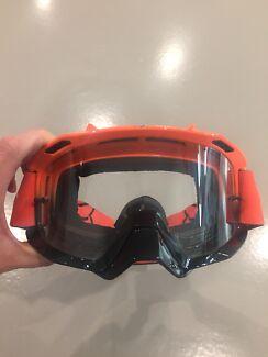 Fox racing air space day glow goggles - orange black