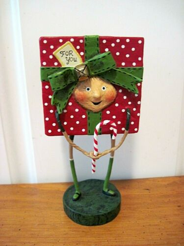 ESC Lori Mitchell New Christmas All Wrapped Up Gift Box Figure