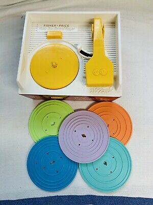 Fisher-Price Music Box Record Player 2014 Child Toy w/ All Five Records