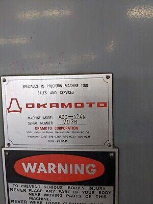 Okamoto 124n 12 X 24 Surface Grinder