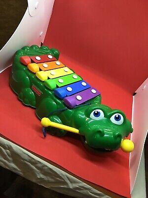 Vintage Fisher Price Crocodile Alligator Xylophone Piano Children Toy