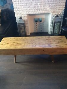 Rustic wood coffee table or hallway bench