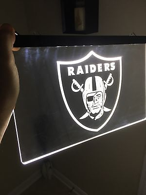NFL OAKLAND RAIDERS LED Neon Sign for Game Room,Office,Bar,Man Cave Super NEW