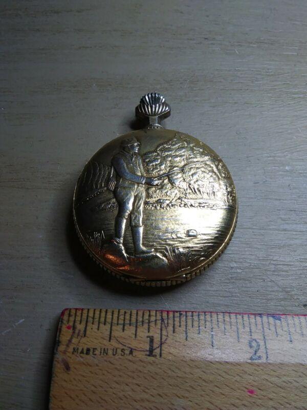 Rene Pavot 17 Jewels Swiss Made Pocket Watch 6498. Please read description.