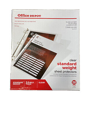 Office Depot Standard Weight Sheet Protectors 8.5 X 11 Clear Pack Of 200