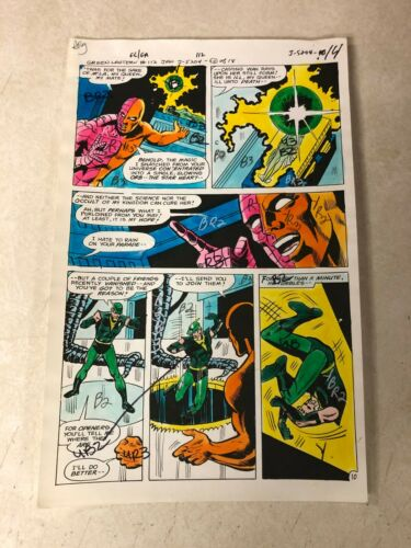 GREEN LANTERN #112 ART color guide 1979 GREEN ARROW STARHEART DC VIBRANT