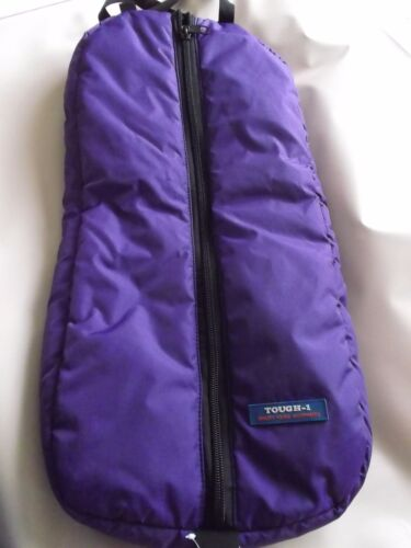 TOUGH 1 PADDED LARGE BRIDLE BAG, PURPLE, TACK AND HORSE SUPPLIES