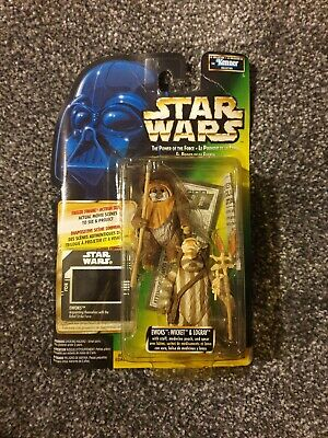 Star Wars Power of The Force Freeze Frame Ewoks Wicket And Logray sealed on card
