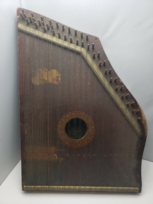 Antique Mandolin Guitar Harp Celestophone By The Phonoharp Co
