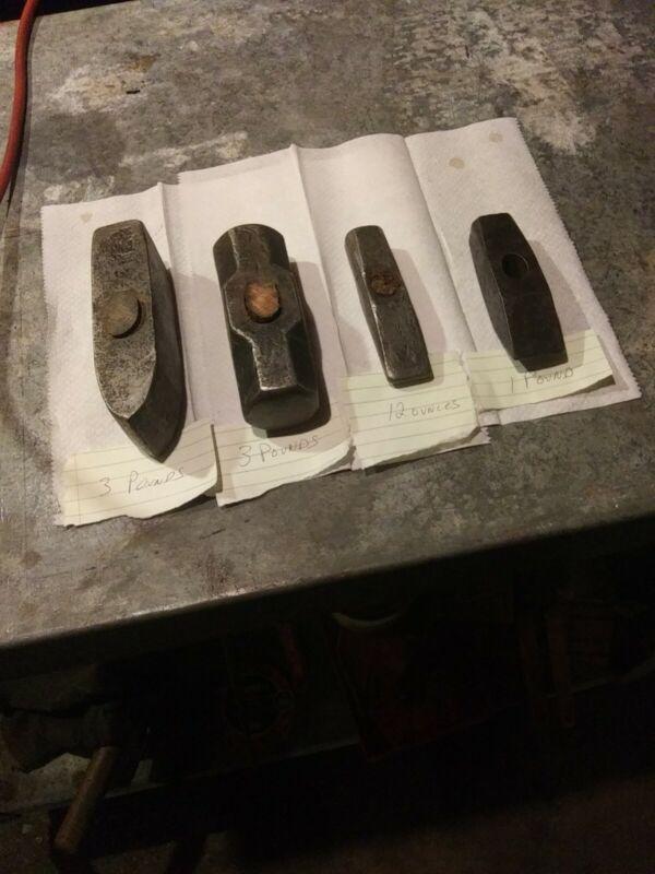 Vintage Lot Of Sledgehammer Heads