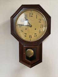 "Vintage HAMILTON Pendulum 21""x13"" Wall Clock"