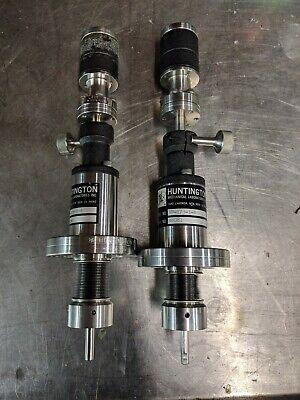 Huntington Vacuum Vf173-1-r Push Pull Rotary Uhv Feedthrough Manipulator Conflat