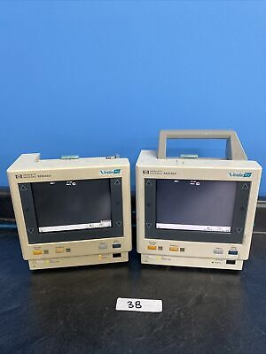 Lot Of 2 Philips Agilent M3 Color Transport Patient Monitor