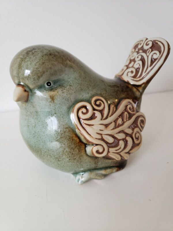 Large Ceramic Bird Figurine