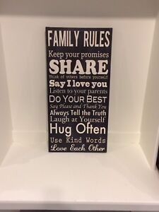 Printed canvas wall art signs