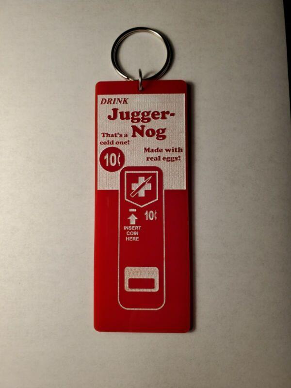 Call of Duty Zombies Juggernog Jugger-nog inspired keychain key chain