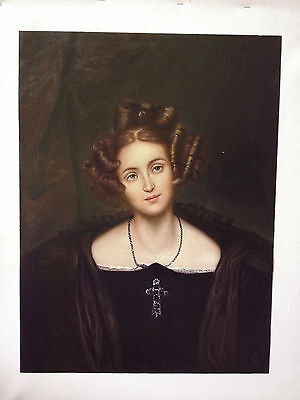 Ölbilder Ölgemälde Portrait of Henrietta Sontag von Paul Delaroche 45x60cm