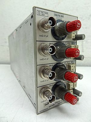 Tektronix 5a14n Four Channel Amplifier Plug-in Module For Oscilloscopes
