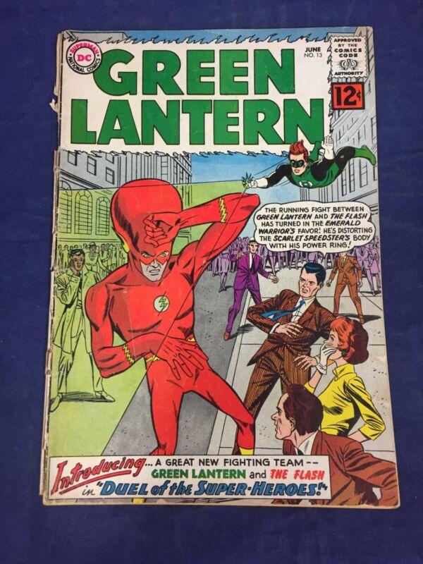 Green Lantern #13 Flash crossover dated 1962 DC