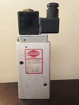 Herion Pneumatic Valve 26-370-50 Lot Of 2