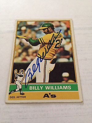 Billy Williams VINTAGE HAND SIGNED 1976 Topps Card With COA (Billy Williams Hand Signed)