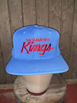VINTAGE 80s Sacramento Kings NBA Sports Specialties WOOL Hat Snapback Youngan