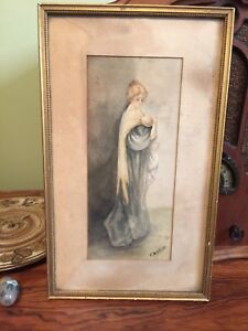Antique painting signed.