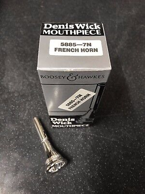 Denis Wick 7N French Horn Mouthpiece-New,Unused Silver Plated-
