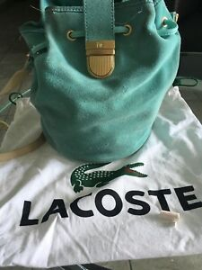 Lacoste Live! Suede bucket bag