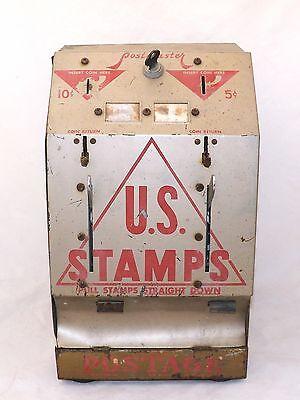 Vintage Original U.S. Stamps Postmaster 5-10 Cent Dispenser-La Grange, Illinois