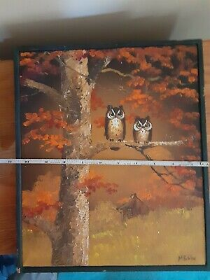 Mae Sibley Vintage for s better look owls , TN Artist original