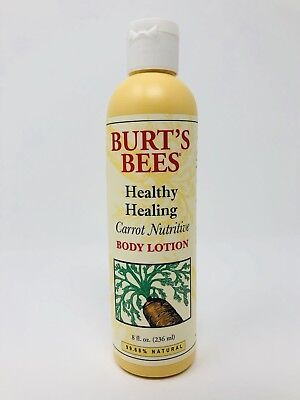 (1) Burts Bees Carrot Nutritive Body Lotion 8oz New Full