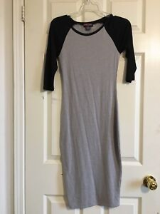 Grey and black right dress
