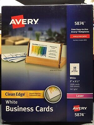 Avery White Business Cards 1000 Cards 100 Sheets 5874