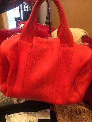 Alexander Wang Tangerine Rocco Bag Neimans Receipt 895.00 Tags. Dust Bag.