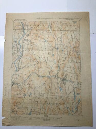 Antique Original 1931 USGS Topographical Map - Warwick Sheet - MASS/NH/VT