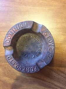 Vintage Cast iron advertising ash tray