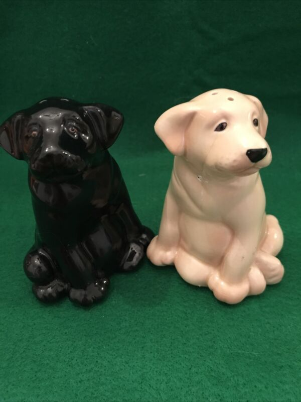 LAB, YELLOW & BLACK ~Salt and Pepper Shakers~