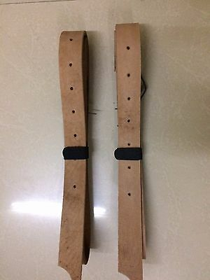 "Western Natural Leather Set of Latigo 56"" Long For Western Saddle"