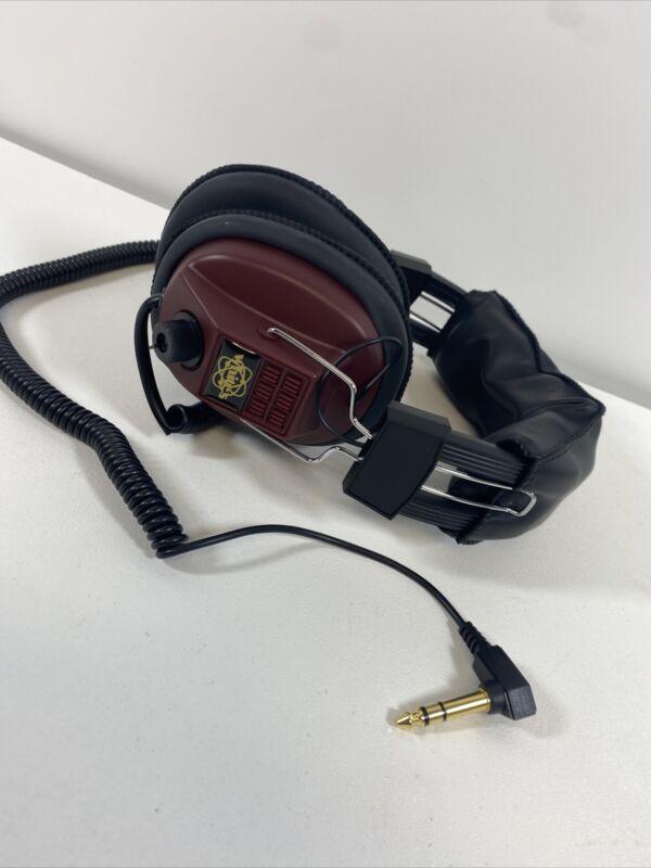 "White's Electronics 1/4"" Angled Plug Metal Detector Headphones New Old Stock"