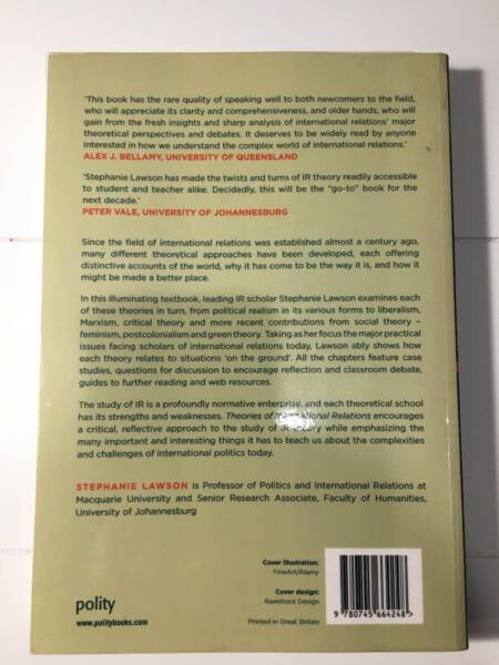 Theories Of International Relations Book