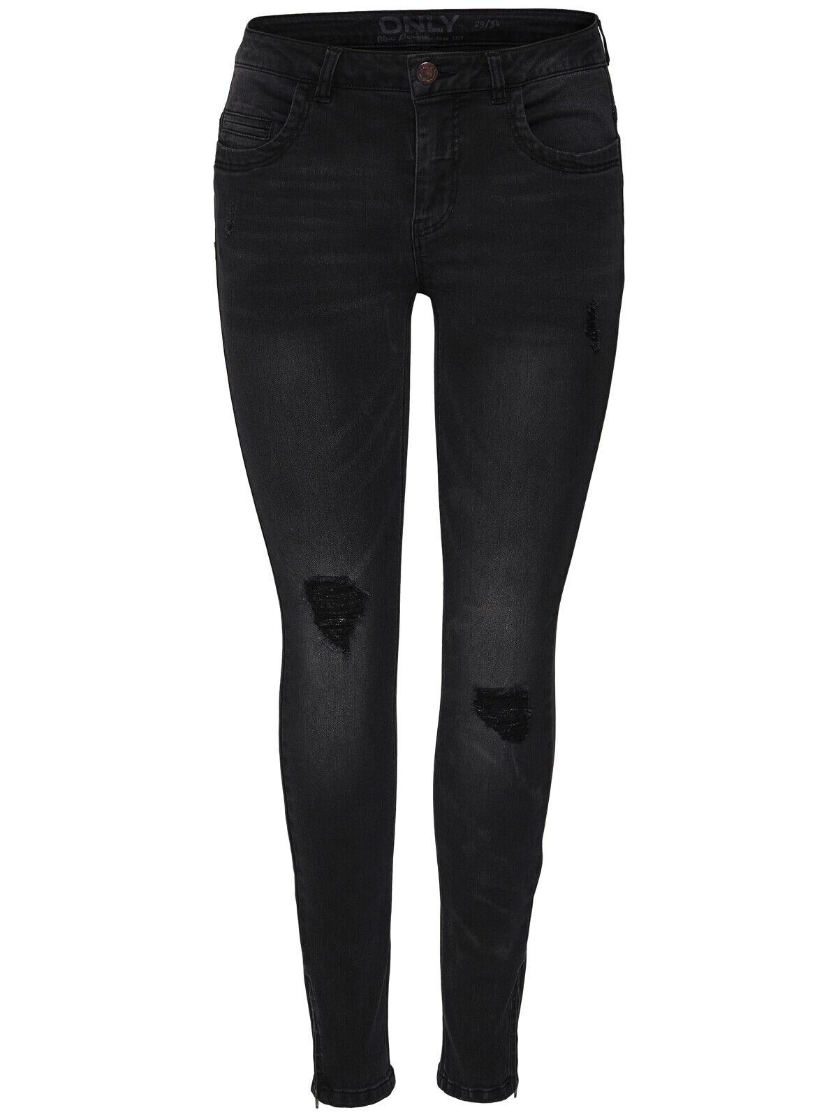 Only Damen Hose OnlKendell Reg DNM Jeans BJ9508 15138624 enge schwarze Hose NEU