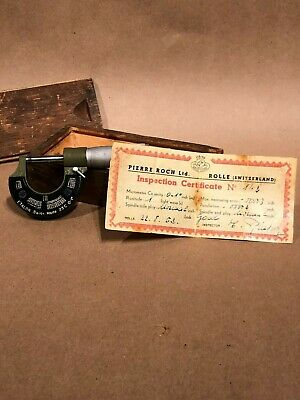 Etalon Pierre Roch Ltd. Vintage Micrometer Rolle Switzerland
