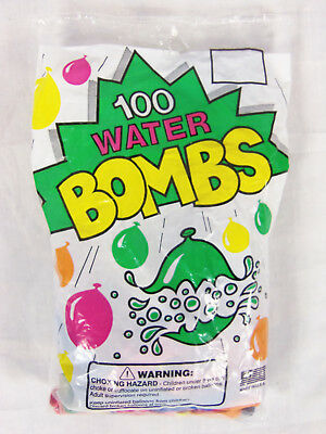 National Latex 100 Count Water Bombs Neon 100 CT