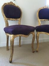 Neo rococo chairs in purple and gold Little Bay Eastern Suburbs Preview