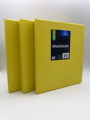 3 Pack Pengear 1 Inch Standard O Ring 3-ring Binder Holds 175 Sheets Yellow New