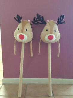 Reindeer Hobby Horses x 2